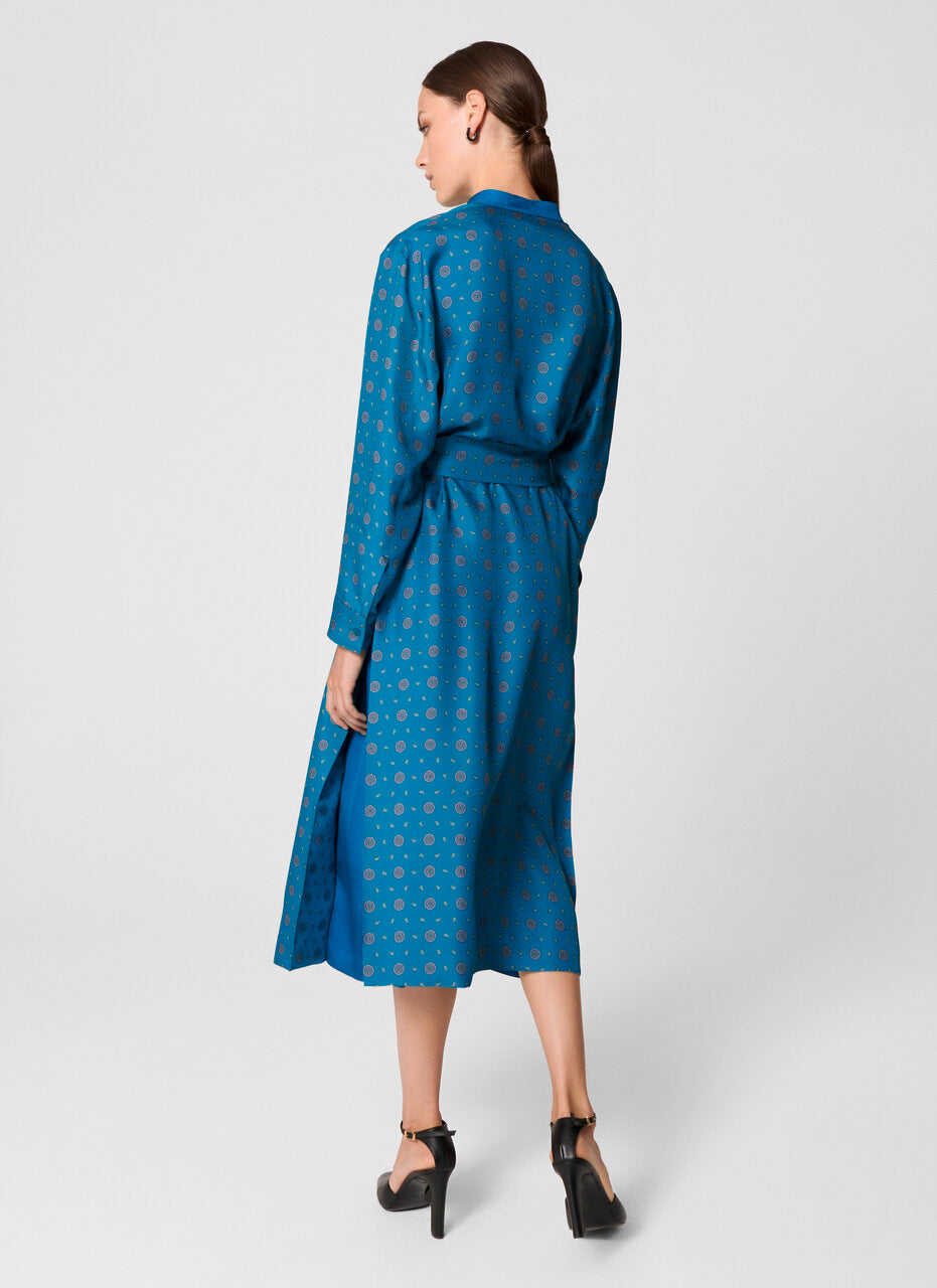 Silk Foulard Print Dress - ESCADA
