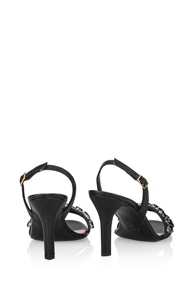 ESCADA Leather Embellished Sandals