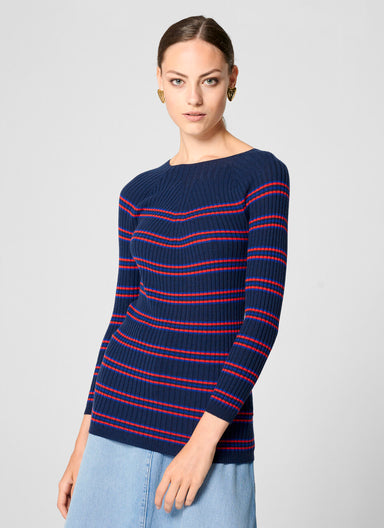 ESCADA Virgin Wool Stripe Sweater