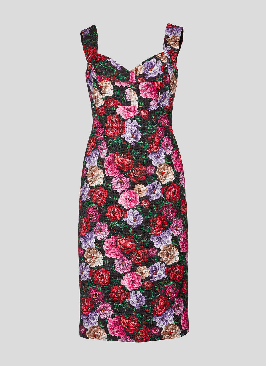 ESCADA Cotton Blend Floral Dress