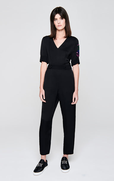 Sequin-Embroidered Jumpsuit - ESCADA