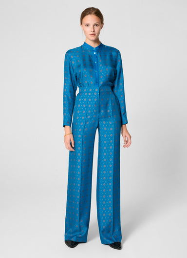 ESCADA Silk Foulard Print Pants