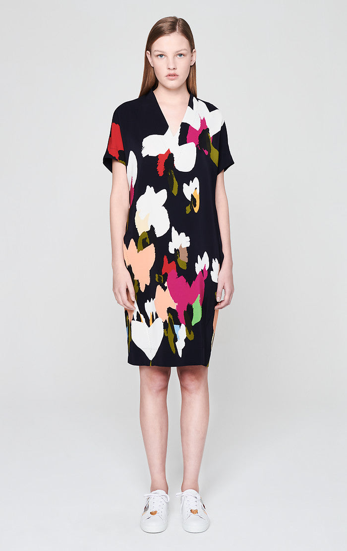 ESCADA Satin Printed Dress