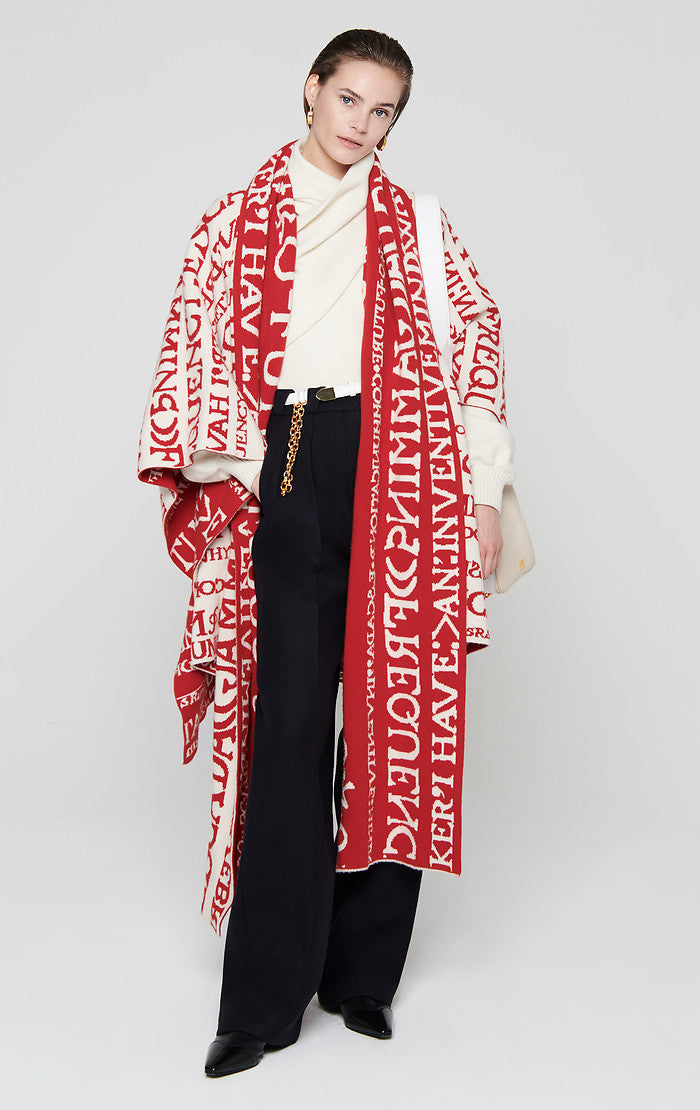 Residency Collection - Wool Cashmere Intarsia Cape - ESCADA