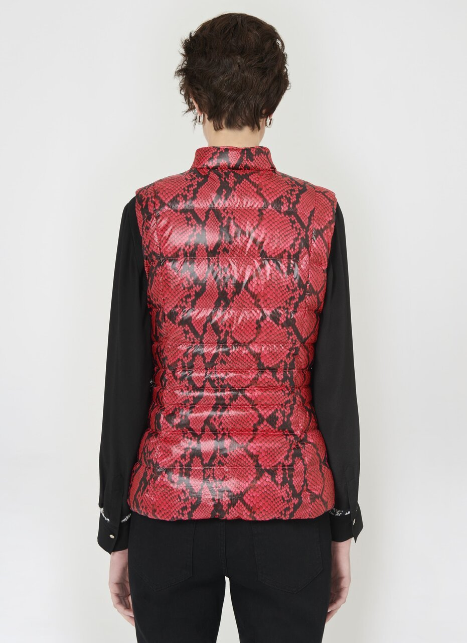 Reversible Python Printed Down Vest - ESCADA