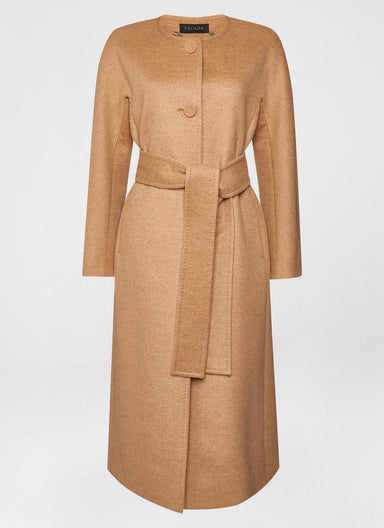 Doubleface cashmere mix coat - ESCADA