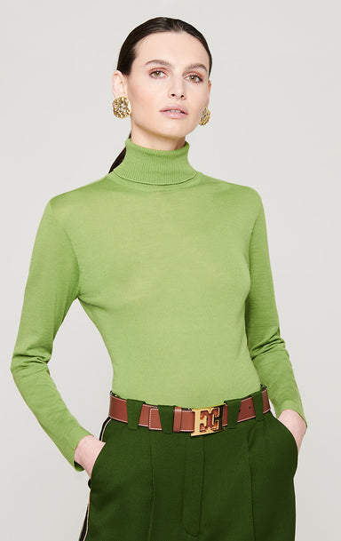 Virgin Wool Turtleneck Sweater - ESCADA