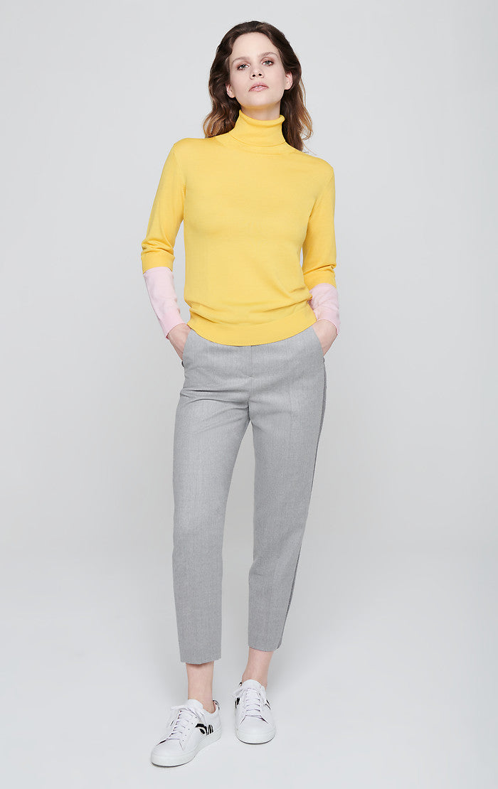 ESCADA Wool Stretch Side Stripe Pants