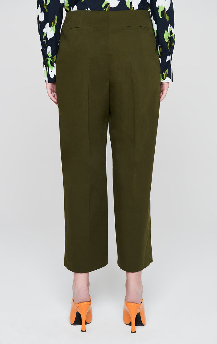 Cotton Pleated Wide Leg Pants - ESCADA
