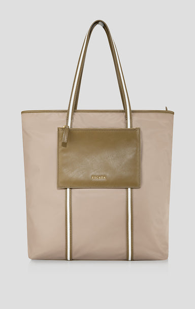 ESCADA Nylon and Leather Tote Bag