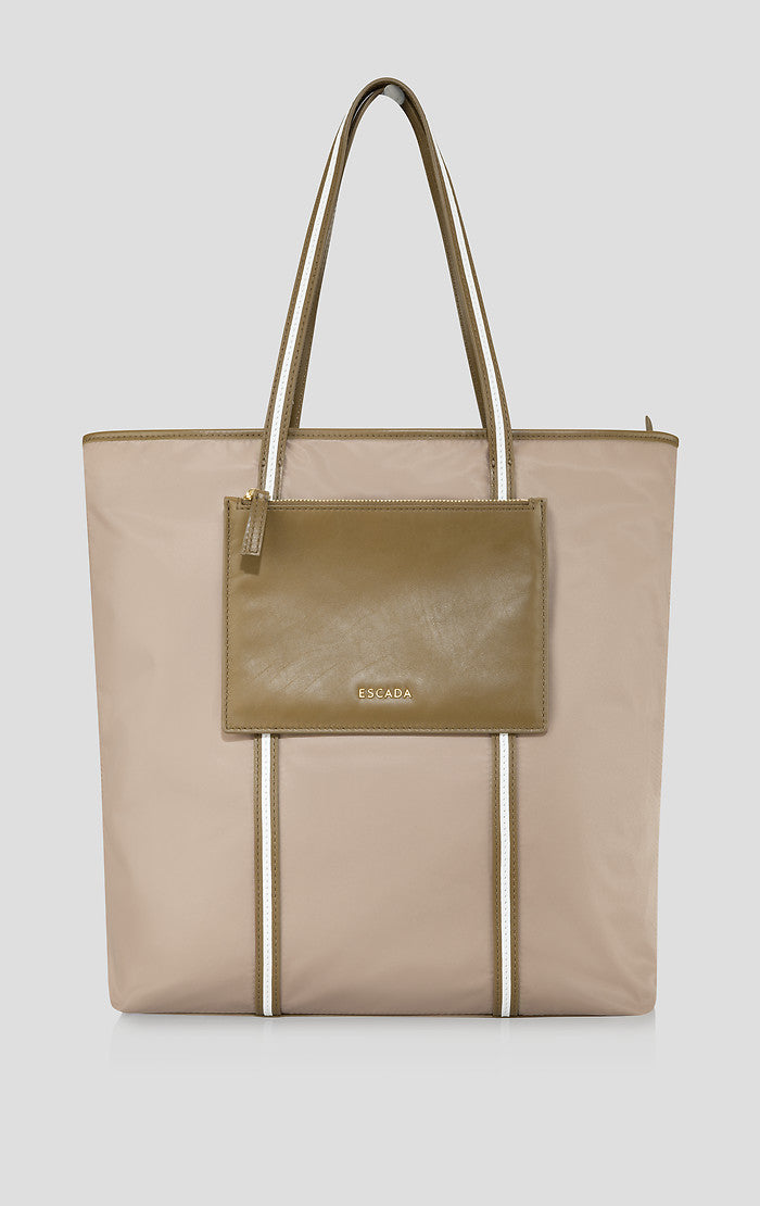 Nylon and Leather Tote Bag - ESCADA