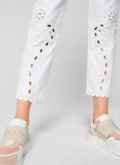 Broderie Ankle Jeans