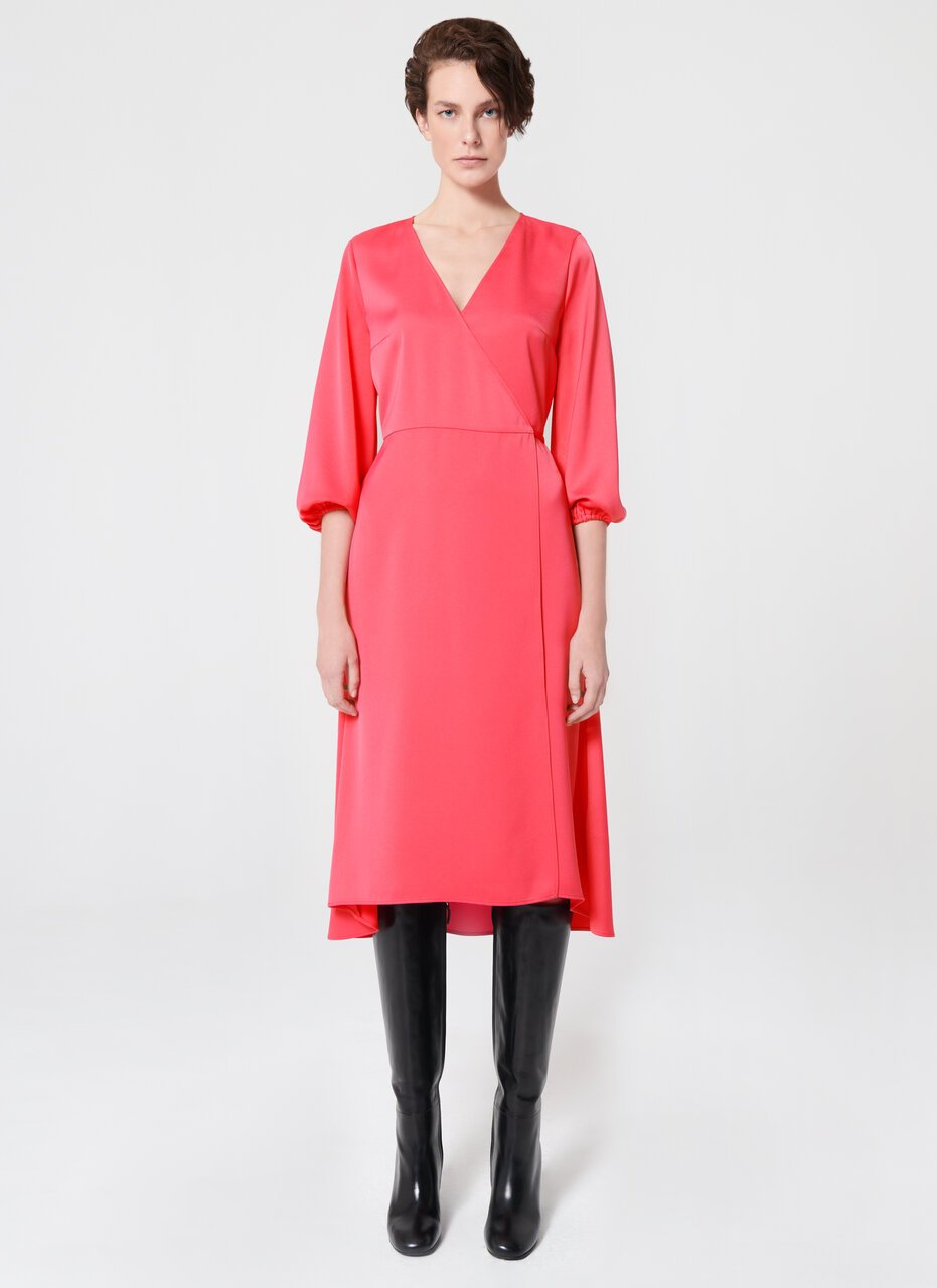 Feminine V-Neck Wrap Dress - ESCADA