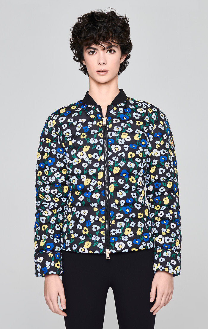 Floral Quilted Down Jacket - ESCADA