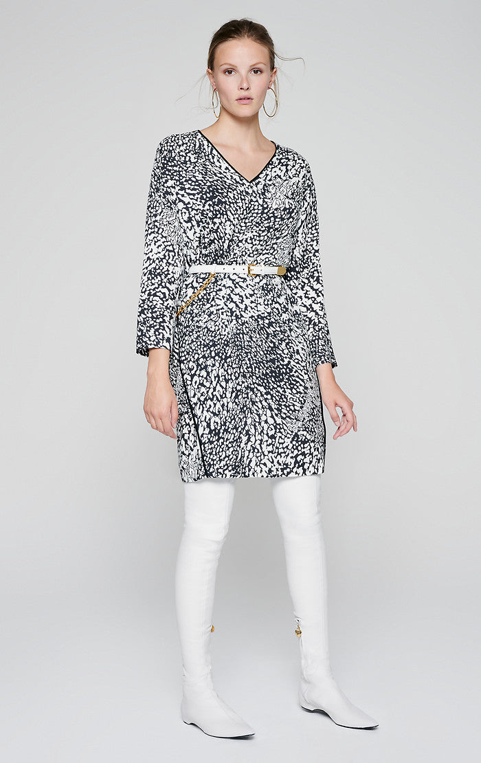 ESCADA Crepe Leopard Print Dress