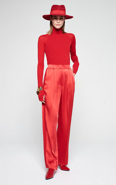 ESCADA Satin Straight Leg Pants