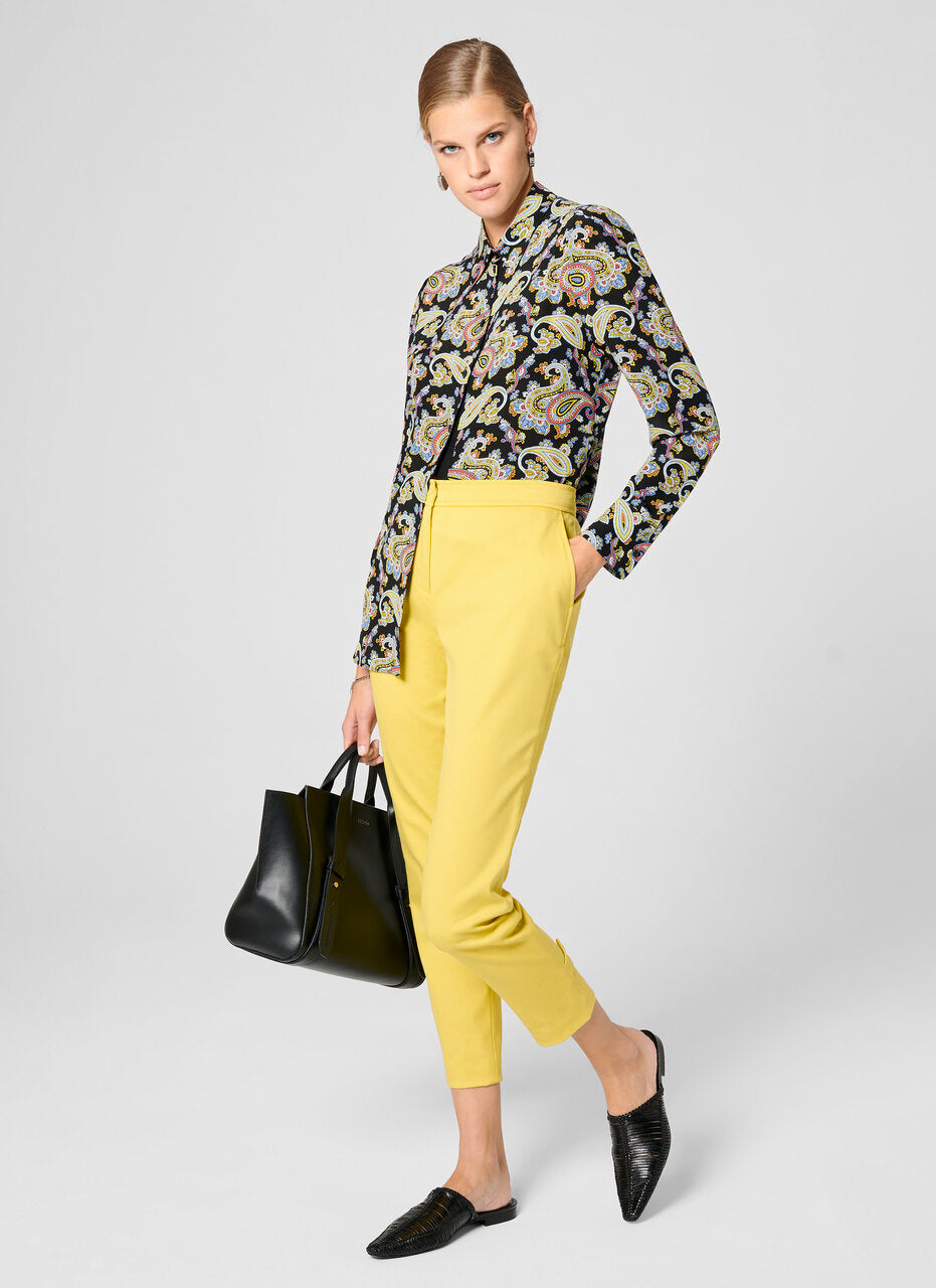 Cotton Gabardine Ankle Pants - ESCADA