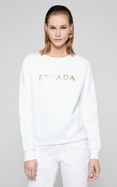 Metallic Logo Sweatshirt - ESCADA