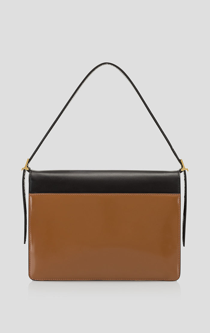 Color Block Leather Envelope Handbag - ESCADA