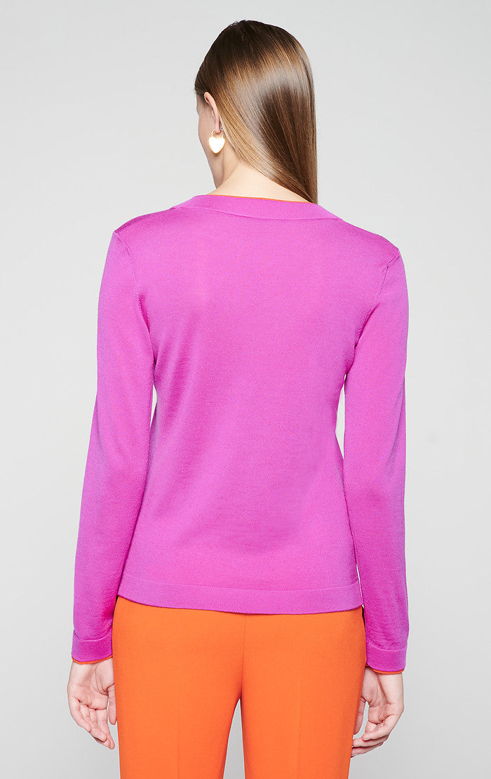 Virgin Wool V-Neck Sweater - ESCADA