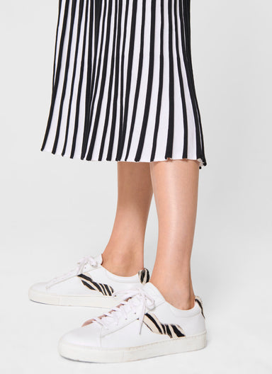 ESCADA Plissé Knit Midi Skirt