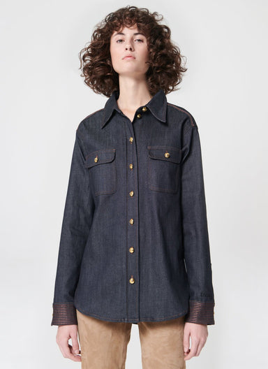Dark blue real denim shirt - ESCADA