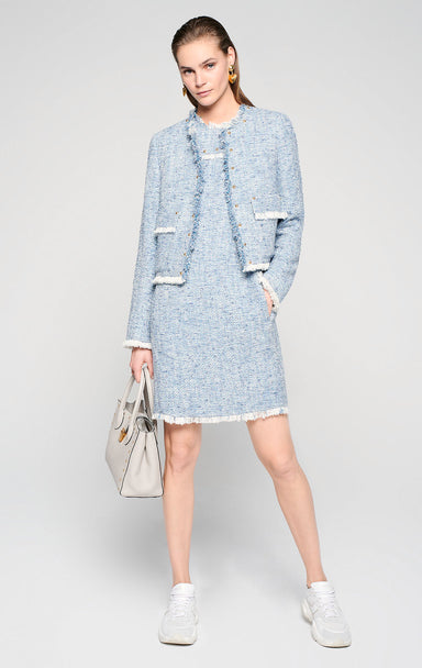 Cotton Tweed Shift Dress - ESCADA