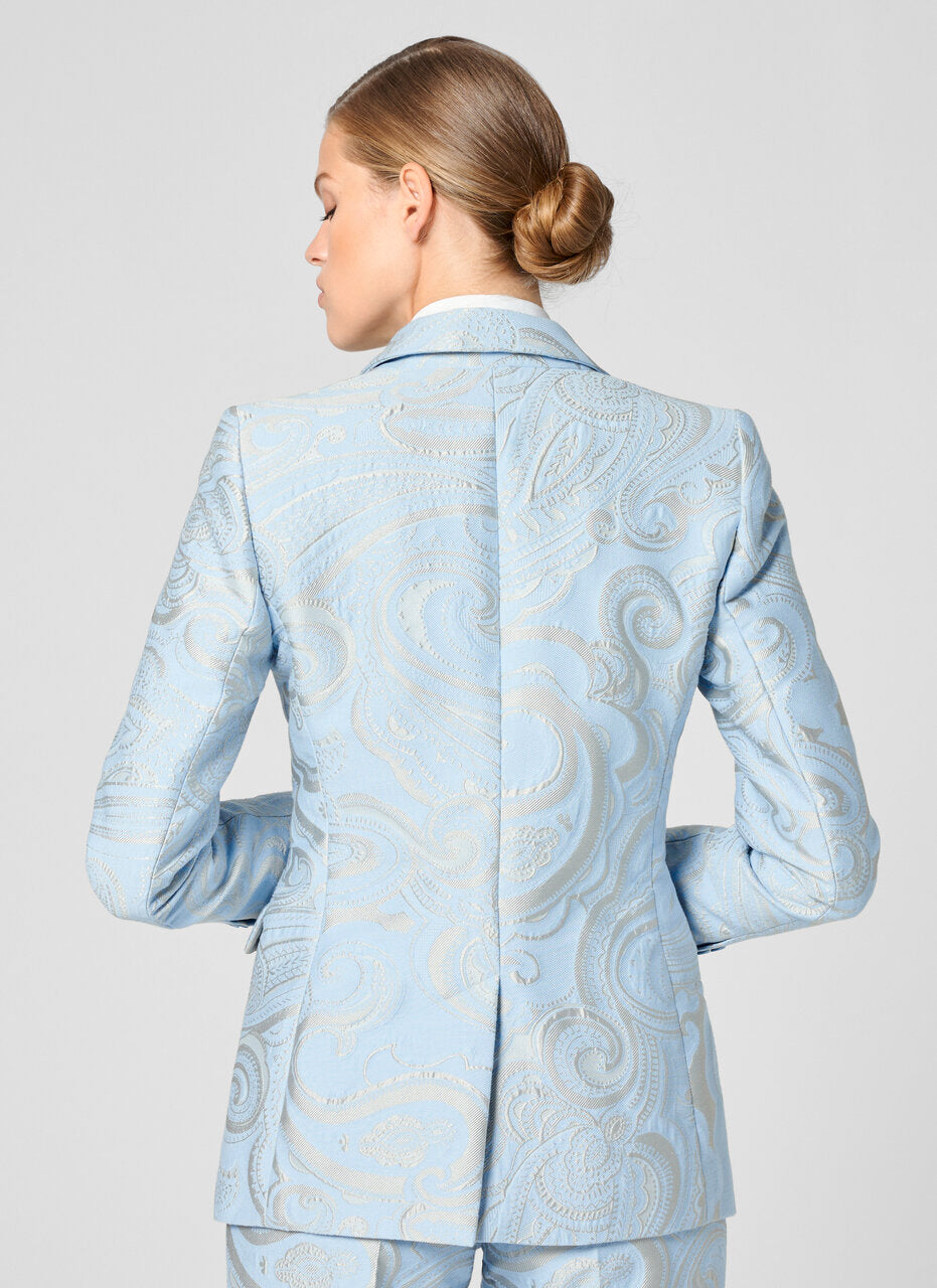 Paisley Jacquard Jewel Button Blazer - ESCADA
