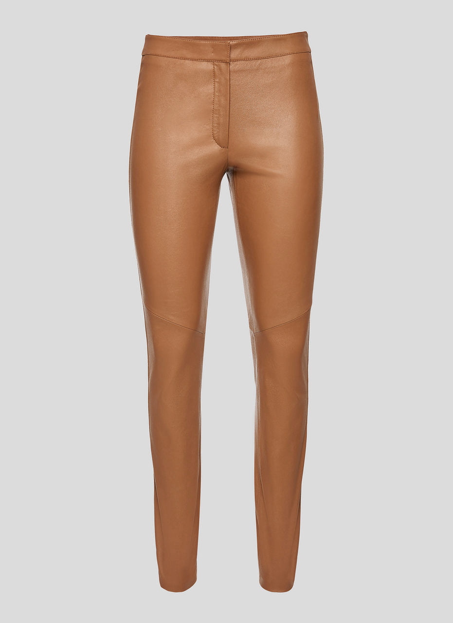 ESCADA Leather Side Stripe Pants