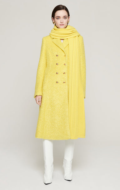 Mohair Wool Bouclé Coat - ESCADA