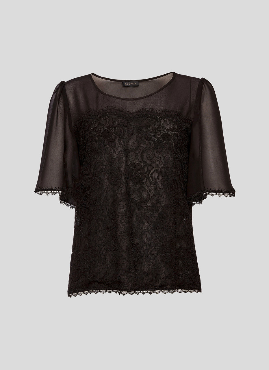 ESCADA Cotton and Silk Lace Top