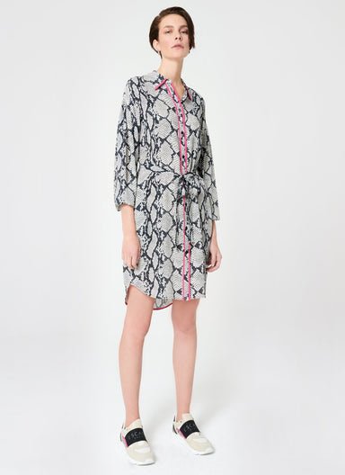 Viscose Silk Python Print Dress - ESCADA
