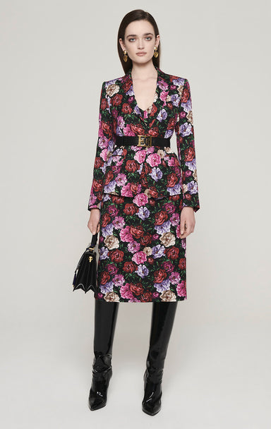 Cotton Blend Floral Dress - ESCADA