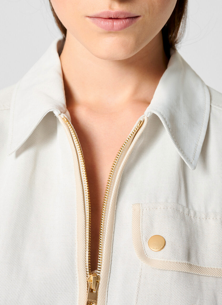 ESCADA Linen Blend Safari Jacket
