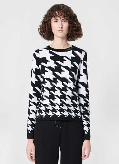 Embroidered wool jacquard pullover - ESCADA