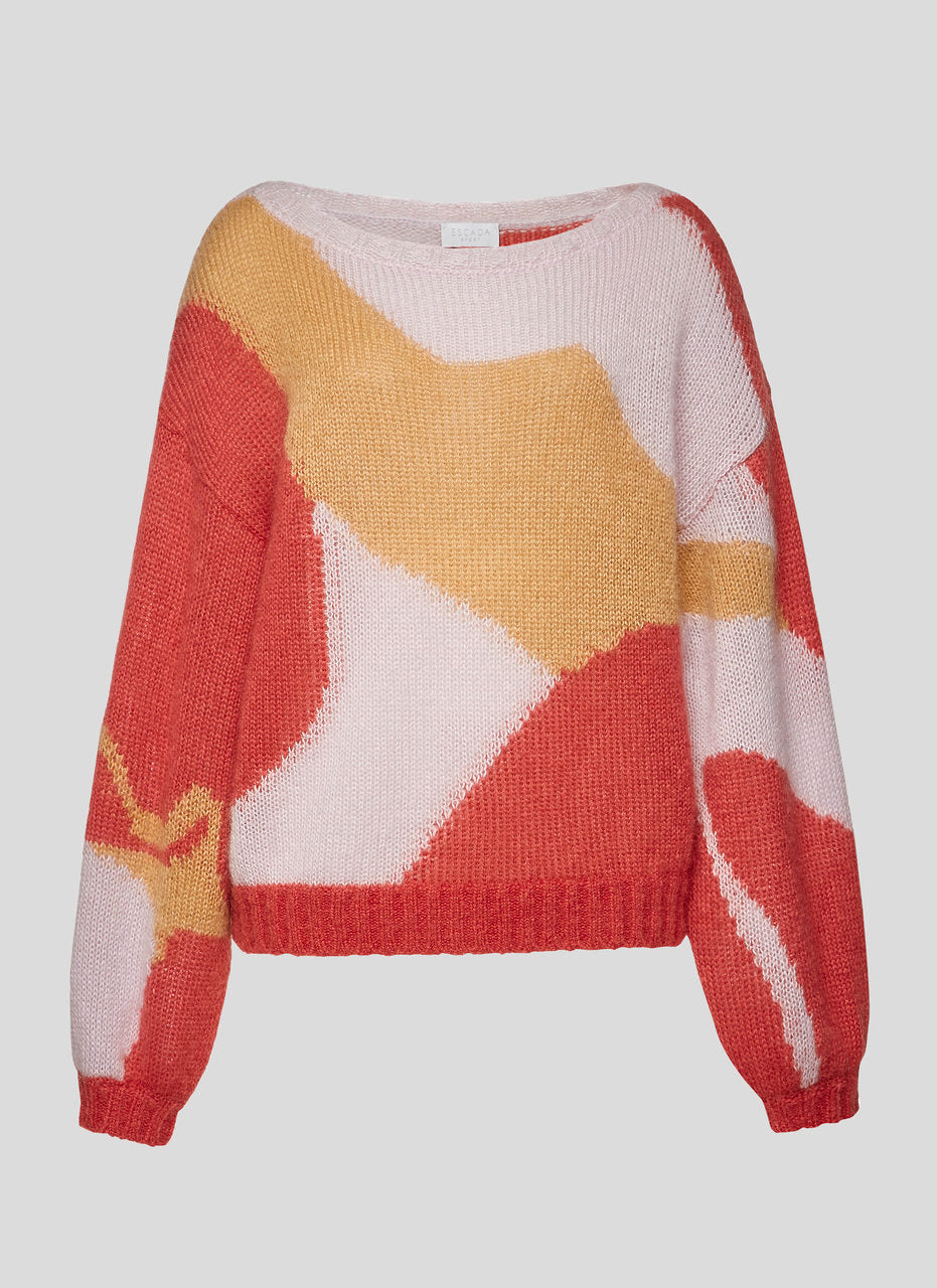ESCADA Mohair Wool Intarsia Sweater