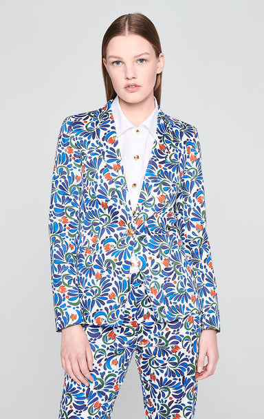 Cotton Stretch Printed Blazer - ESCADA