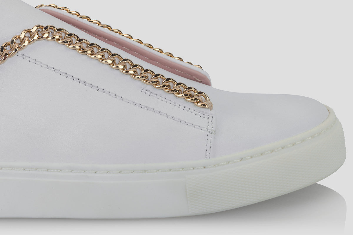 ESCADA Leather Slip-On Sneakers