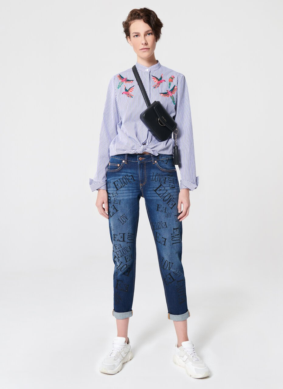 All Over Logo Printed Boyfriend - ESCADA