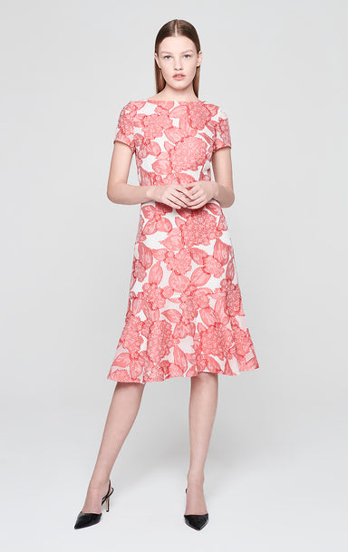 Silk Blend Floral Dress - ESCADA