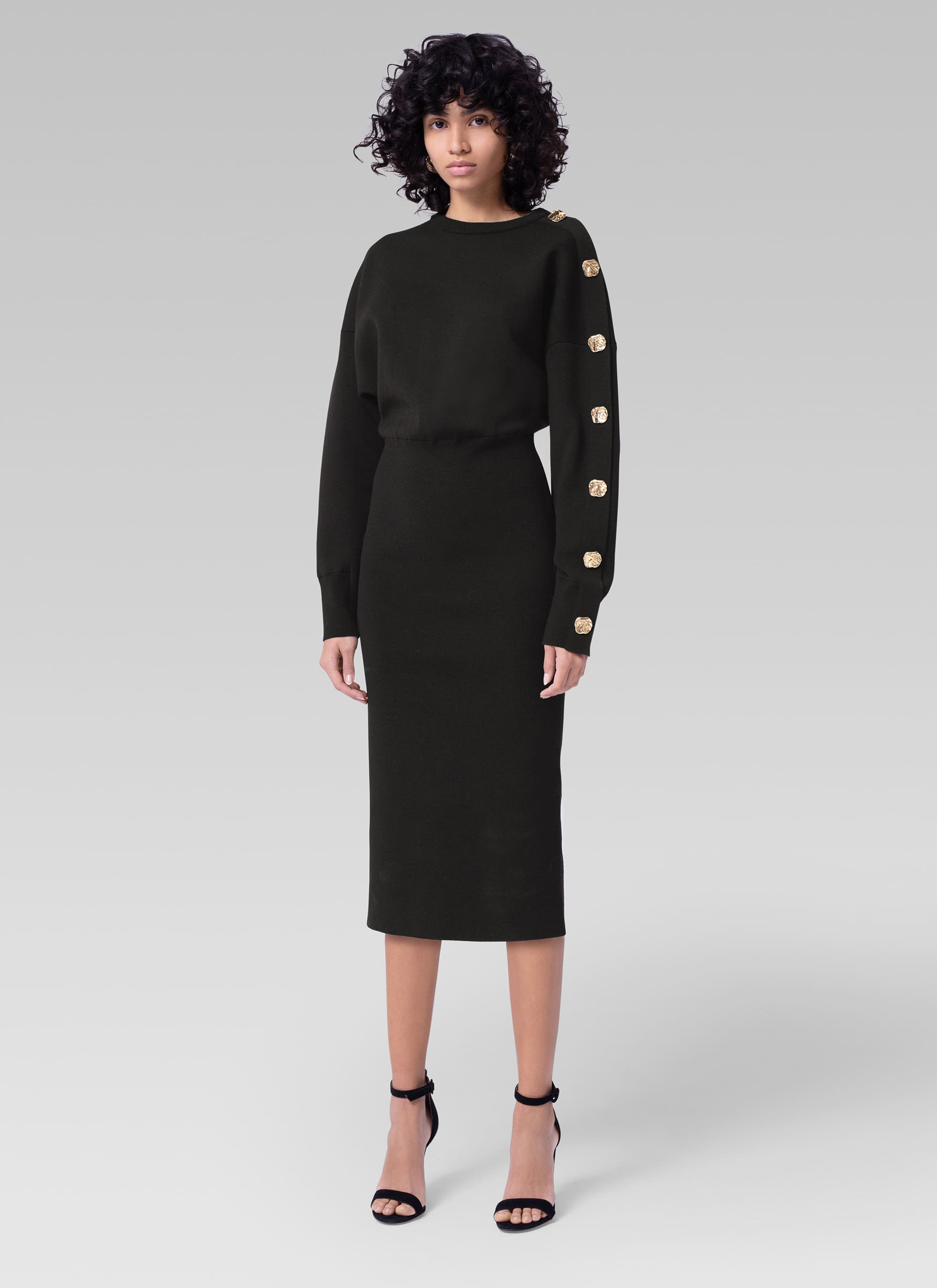 Casual knit dress with button detail - ESCADA