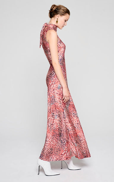 Residency Collection - Printed Satin Tie-Neck Dress - ESCADA