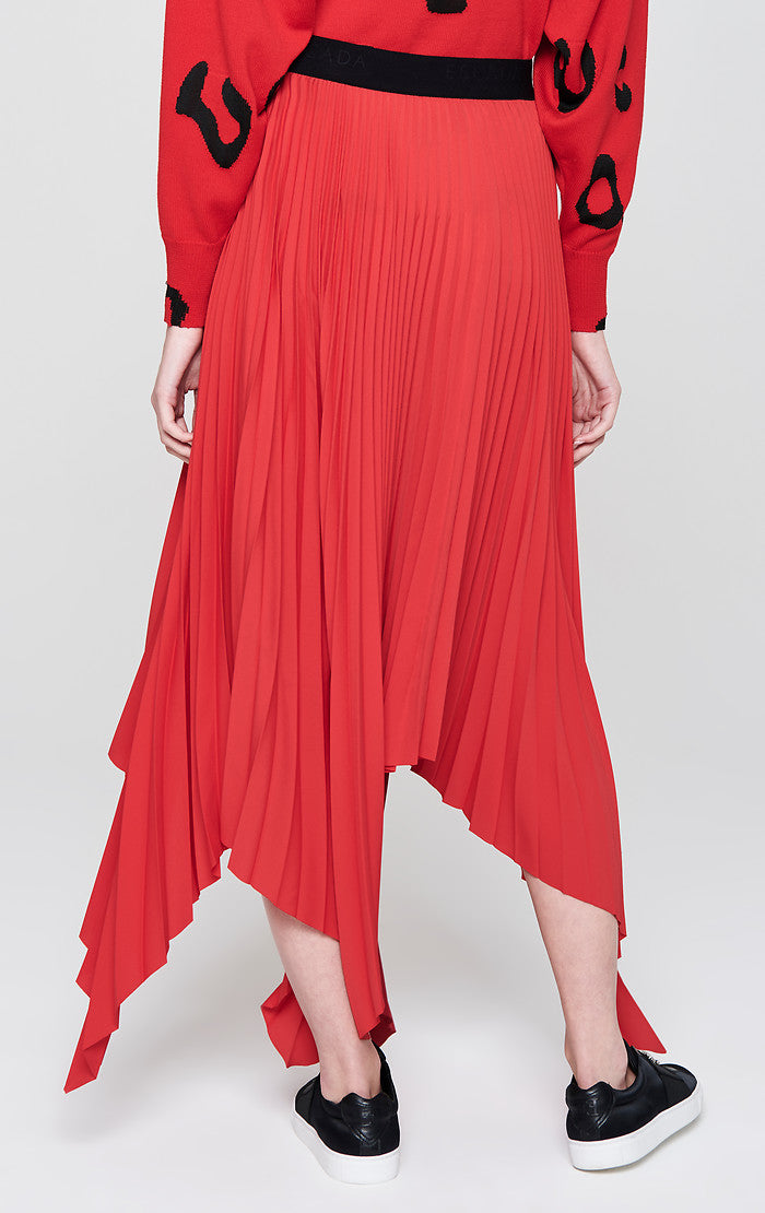 Plissé Asymmetric Skirt - ESCADA