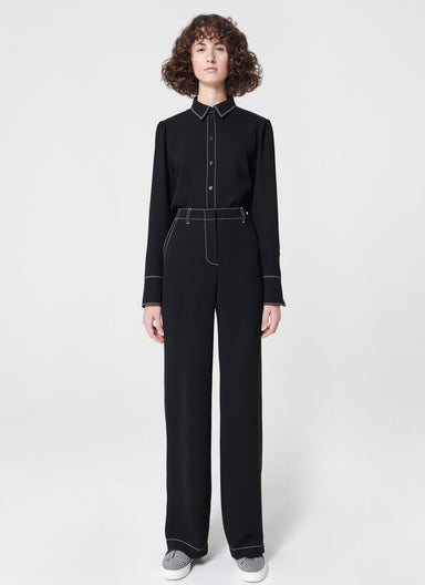 ESCADA Fluid pant with contrasting stitching