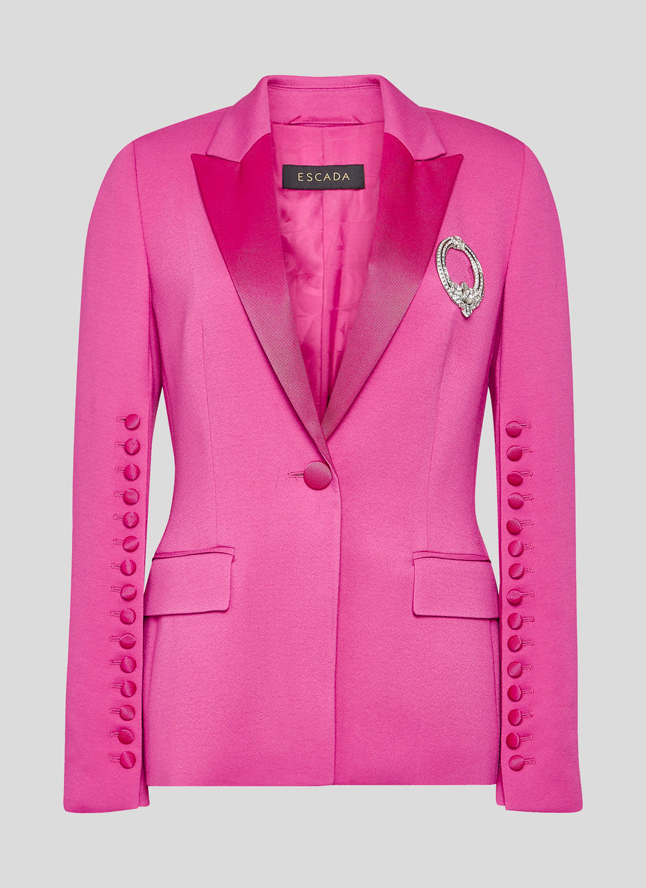 ESCADA Crepe Button-Detail Blazer
