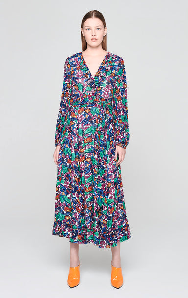 ESCADA Crepon Printed Maxi Dress