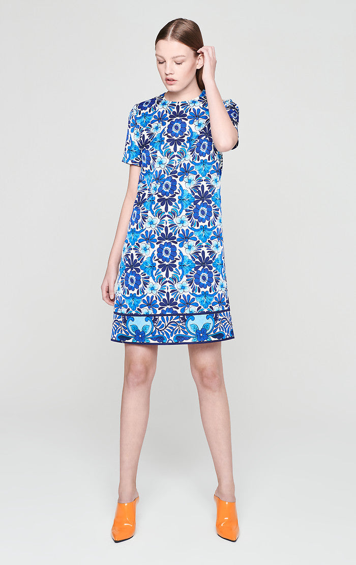 ESCADA Cotton Blend Jacquard Dress