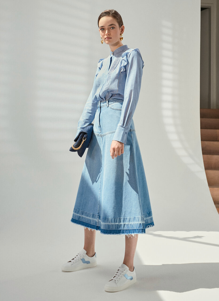 ESCADA Denim Midi Skirt