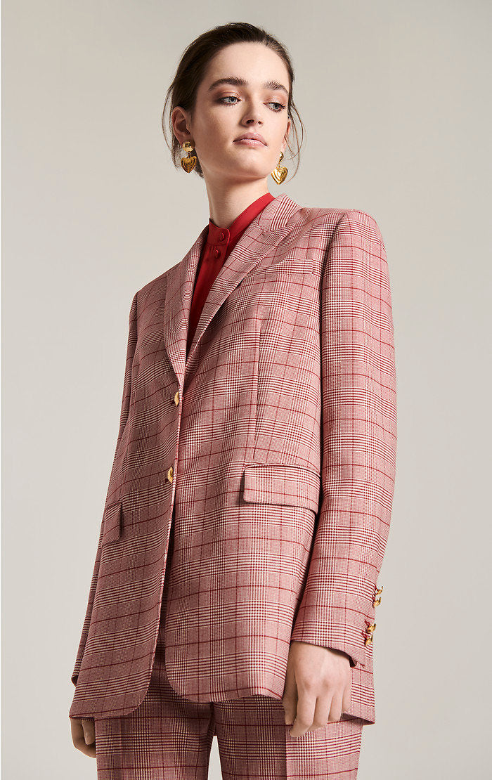 Virgin Wool Check Blazer - ESCADA