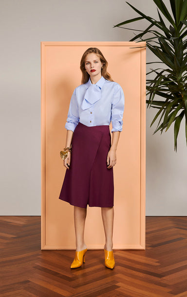 Cotton Bow-Neck Shirt - ESCADA